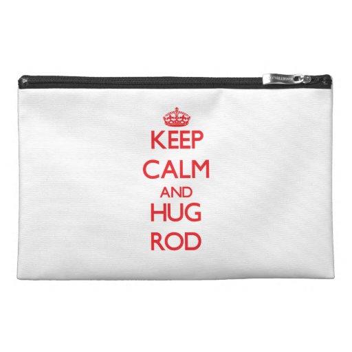 Keep Calm and HUG Rod Travel Accessories Bag