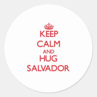 Keep Calm and HUG Salvador Sticker