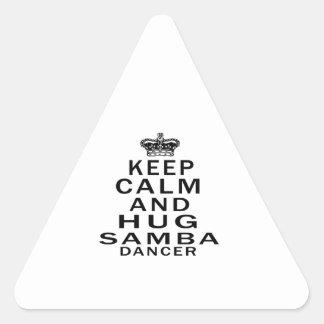 Keep Calm And Hug samba Dancer Sticker