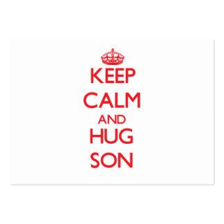 Keep Calm and HUG Son Business Card Templates