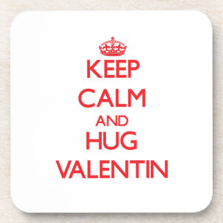 Keep Calm and HUG Valentin Coasters