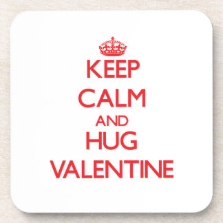 Keep calm and Hug Valentine Drink Coaster
