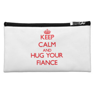 Keep Calm and HUG  your Fiance Makeup Bag