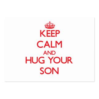 Keep Calm and HUG  your Son Business Cards