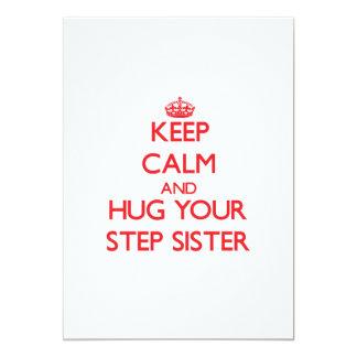 Keep Calm and HUG  your Step-Sister Cards