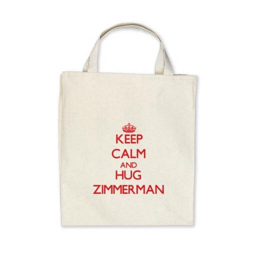 Keep calm and Hug Zimmerman Canvas Bags