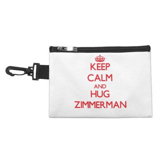 Keep calm and Hug Zimmerman Accessory Bags