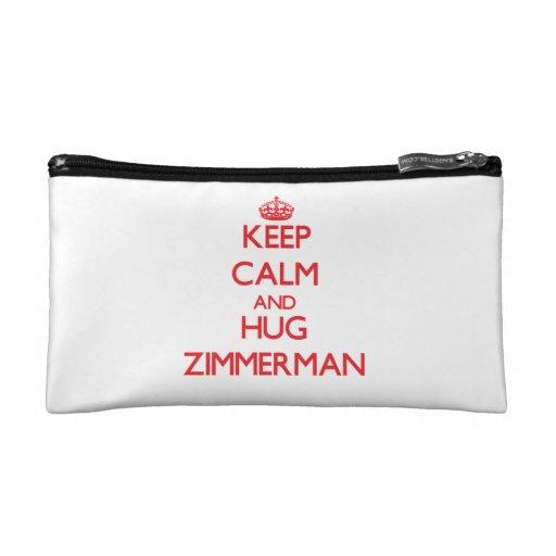 Keep calm and Hug Zimmerman Cosmetic Bags