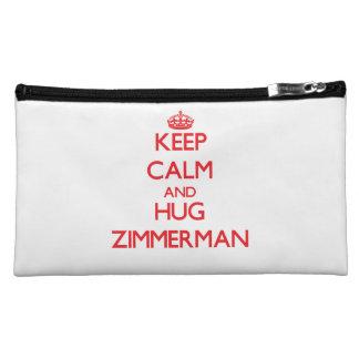 Keep calm and Hug Zimmerman Makeup Bags