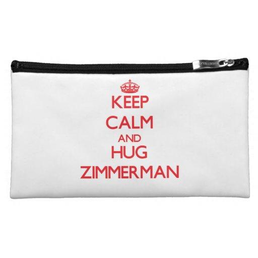 Keep calm and Hug Zimmerman Cosmetic Bag