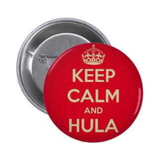 Keep Calm and Hula 6 Cm Round Badge