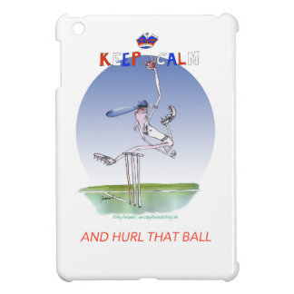 keep calm and hurl that ball, tony fernandes iPad mini case