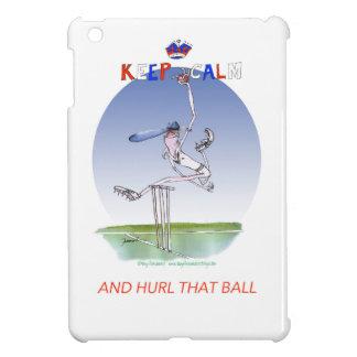 keep calm and hurl that ball, tony fernandes iPad mini cover