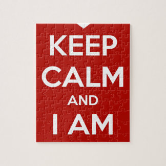 Keep Calm and I am Your Valentine Jigsaw Puzzle
