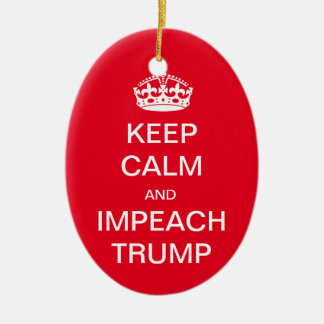 Keep Calm and Impeach Trump Ceramic Oval Decoration
