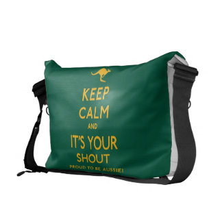 Keep Calm and It's Your Shout! Courier Bag