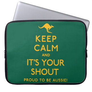 Keep Calm and It's Your Shout! Laptop Computer Sleeve