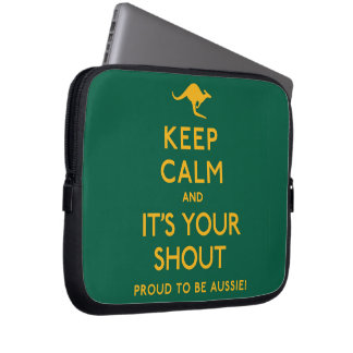 Keep Calm and It's Your Shout! Laptop Sleeves