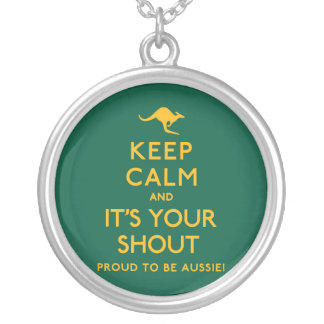 Keep Calm and It's Your Shout! Silver Plated Necklace