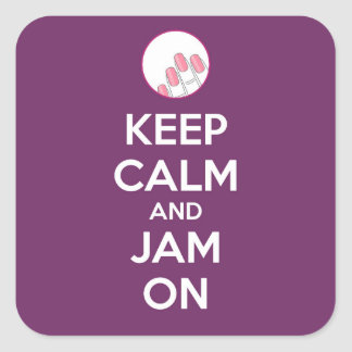 Keep Calm and Jam On Stickers