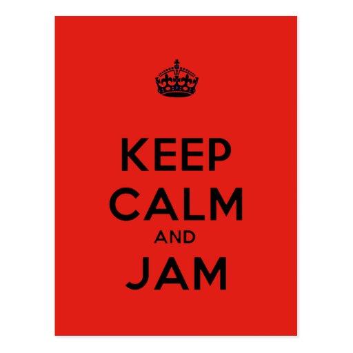 Keep Calm and Jam Postcard