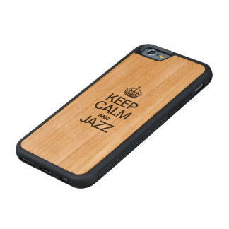 KEEP CALM AND JAZZ CARVED CHERRY iPhone 6 BUMPER CASE