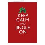 Keep Calm and Jingle On Card