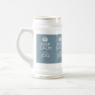 KEEP CALM AND JOG BEER STEIN