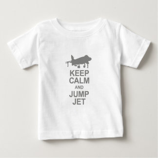 Keep Calm and Jump Jet Baby T-Shirt