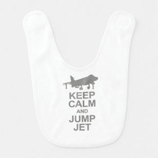 Keep Calm and Jump Jet Bib