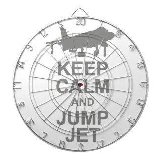 Keep Calm and Jump Jet Dartboard