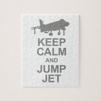 Keep Calm and Jump Jet Jigsaw Puzzle