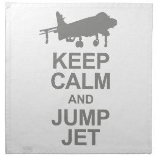 Keep Calm and Jump Jet Napkin