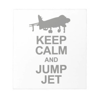 Keep Calm and Jump Jet Notepad