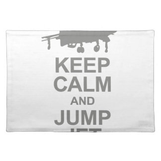 Keep Calm and Jump Jet Placemat
