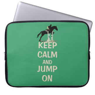 Keep Calm and Jump On Laptop Bag