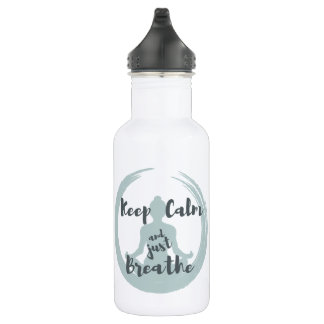 Keep Calm and Just Breathe Water Bottle
