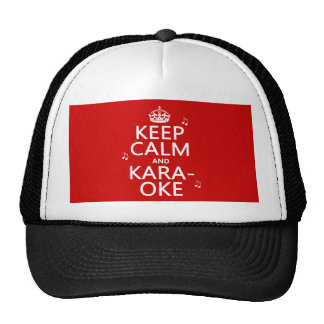 Keep Calm and Karaoke (customize color) Cap