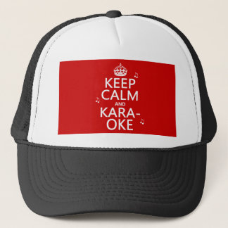 Keep Calm and Karaoke (customize color) Trucker Hat