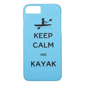 Keep Calm and Kayak iPhone 7 Case