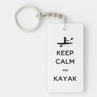 Keep Calm and Kayak Key Ring