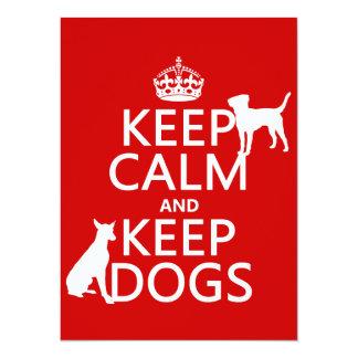 Keep Calm and Keep Dogs - all colours Card