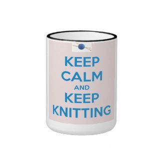 Keep Calm and Keep Knitting Mug Coffee Mug