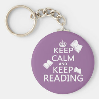 Keep Calm and Keep Reading Key Ring