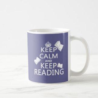 Keep Calm and Keep Reading Coffee Mugs