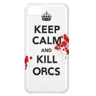 keep calm and kill orcs iPhone 5C case