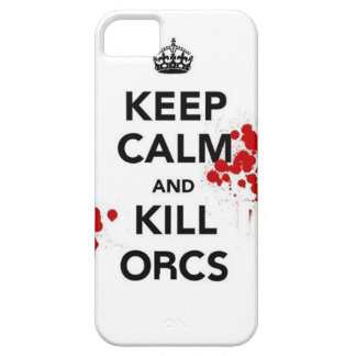 keep calm and kill orcs iPhone 5 case