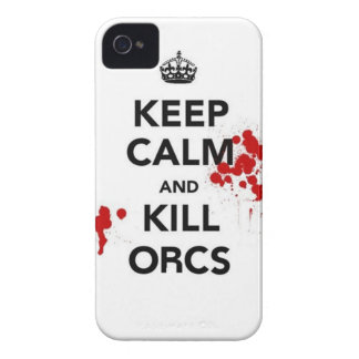 keep calm and kill orcs Case-Mate iPhone 4 cases