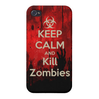 Keep Calm and kill zombie zombies wa iPhone 4/4S Cases