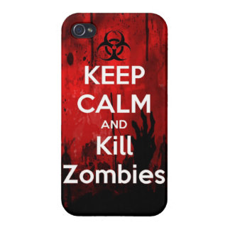 Keep Calm and kill zombie zombies wa iPhone 4/4S Covers